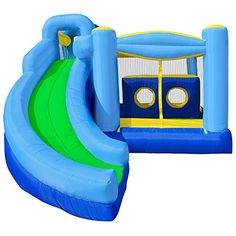 Cloud 9 Quad Combo Bounce House - Inflatable Bouncer with Climbing Wall, Slide and Obstacle Tunnel Cloud 9 Bouncers http://www.amazon.com/dp/B005XOMDHG/ref=cm_sw_r_pi_dp_NfV7ub0KDMG9A