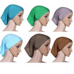 1.62AUD - 20Colors Women Under Scarf Tube Bonnet Cap Bone Islamic Head  Cover Hijab Eager  ebay  Fashion 915fac0cd8d7
