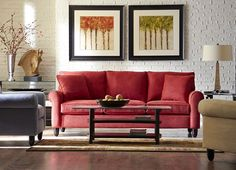 The Amalfi #sofa from #Havertys is part of the  #CUSTOMLOOK Select collection. Available in colors such as red, charcoal and cappuccino.