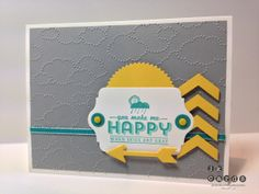 Stampin' Up!, Paper Craft Crew 74, See Ya Later**, Label Card Thinlits, Chalk Talk Framelits, Starburst Framelits*, Cloudy Day Embossing Folder, Chevron Border Punch, Itty Bitty Shapes Punch Pack, Brights Candy Dots, Bermuda Bay 1/8 Taffeta Ribbon, *2014 Occasions Catalog (January 3, 2014), **2014 Sale-A-Bration Catalog (January 28 to March 31, 2014)