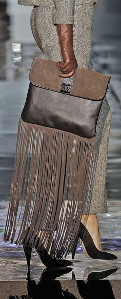 Roberto Verino 2014/15 fringe bag Womens Unique Style Inspiration Design #UNIQUE_WOMENS_FASHION