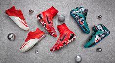 ナイキバスケットボールは、優れた3人のプレイヤーのために、限定版クリスマスシューズを発売。