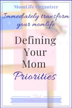 Be the boss, get in control by defining your own priorities. Having a priorities list will make everything clear and give you the direction you want. Life Priorities, Meant To Be Yours, Life Organization, Organizing, Finding Purpose, Happy Mom, Time Management Tips, Christian Parenting, Mom Blogs