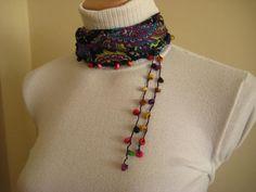 scarf w/beads