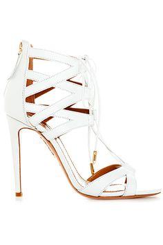 Aquazzura White Ankle High Sandal Spring-Summer 2014 #Shoes #Heels #Weddingshoes