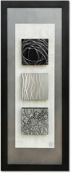 Double matted in a rectangular frame, this contemporary wall art style features an intriguing abstract theme. Vertical-oriented contemporary framed wall art by artist Manuela Jarry. Art Diy, Diy Wall Art, Metal Wall Art, Framed Wall Art, Wood Art, Wall Art Decor, Canvas Wall Art, Fabric Wall Art, 3d Wall