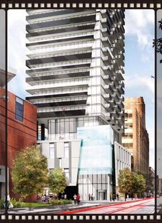 #TheTheatreDistrictTower is a new mixed-use condominium building currently in pre-construction at 30 Widmer Street by Plaza in Toronto, Ontario with a proposed 8 storey podium and 51 storeys with 461 residential units.
