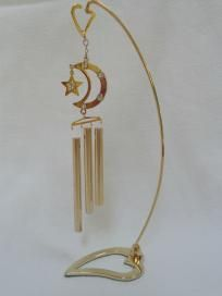 BRAND NEW MASCOT AUSTRIAN CRYSTAL PEDESTAL CHIMES, MOON & STAR,$6.99http://yardsellr.com/for_sale#!/brand-new-mascot-austrian-crystal-pedestal-chimes-moon--star699-3501486