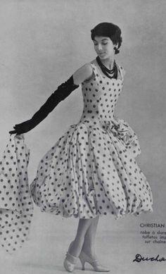 Christian Dior, fabric by Ducharme, 1955