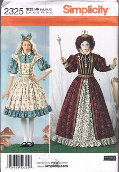 UNCUT Size 6-12 Misses' Alice In Wonderland by BusyBeaverBoutique