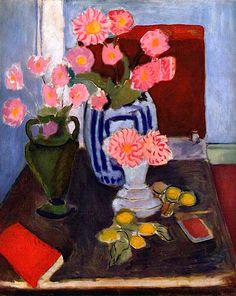 ❀ Blooming Brushwork ❀ - garden and still life flower paintings - Still Life with Three Vases / Henri Matisse