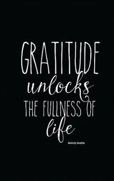 Gratitude Printable Quote Art, Gratitude Unlocks the Fullness of Life Beautiful…