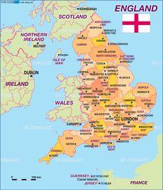 England Karte   England Reiseführer