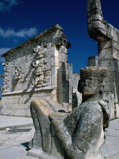Mayan Ruins at Chichen Itza Site, Chichen Itza, Yucatan, Mexico [ MexicanConnexionForTile.com ] #Travel #Talavera #Handmade