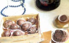 trufle z rumem (gorzka czekolada, śmietanka 36%, rum)
