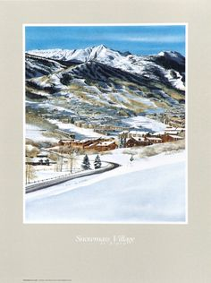 Snowmass Village, art, ski poster, I've skied Snowmass every year for the past 40 years!