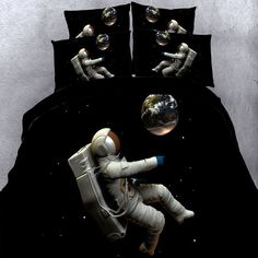 Give your girl's bedroom a cheerful upgrade with these galaxy nebula themed outer space bedding sets. The unique outer space bedding sets are the ideal accessory to place in a girl's room or include in a neutrally themed decor. Best Bedding Sets, Cheap Bedding Sets, King Bedding Sets, Luxury Bedding Sets, Comforter Sets, Affordable Bedding, Girls Bedroom Canopy, Girls Bedroom Sets, King Size Bedroom Sets