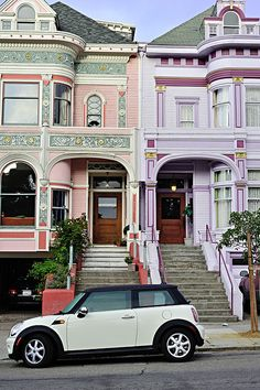 Victorian Homes at Alamo Square  In the same area as the famous Painted Ladies, this is an example of  Victorian homes so characteristic of San Francisco,  California.
