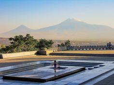 Silhuette - Ararat from Mother Armenia statue