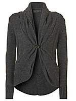 Charcoal Clasp Front Cardigan