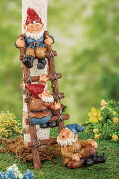 #30422 Gnome Corporate Ladder Statue by sensationaltreasures