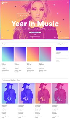Stinkdigital – Spotify – Year in Music 2015 Case Study. Some gorgeous design tha… Stinkdigital – Spotify – Year in Music 2015 Case Study. Some gorgeous design that made it to so many platforms. This is the work I want to be a part of! App Design, Layout Design, Branding Design, Logo Design, Spotify Year, Pag Web, Marketing, Massimo Vignelli, Duo Tone