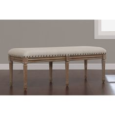 Elements Upholstered Dining Bench   Overstock.com Shopping - The Best Deals on Dining Chairs