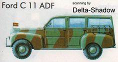 1941 Ford C11 ADF SUV blueprint