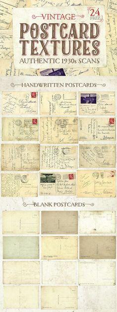 Free postcard textures