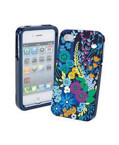 Vera Bradley Hardshell Snap-on Case Cover iphone 4/4S- Midnight Blues $10