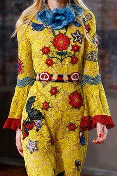 Resort 2016 details: Gucci lace jumpsuit