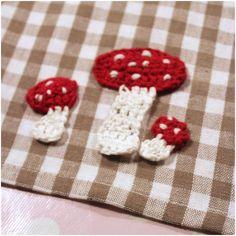 FREE Toadstool Applique Crochet Pattern / Tutorial
