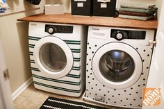 Washer and dryer decorated with electrical tape