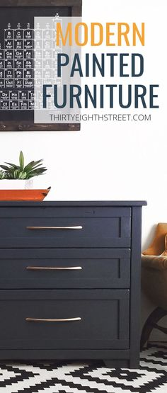 Learn How To Create Beautiful Furniture For Your Home By Painting And Refinishing Old Furniture. This Modern DIY Furniture Makeover Features Queenstown Grey Paint and Copper Furniture Hardware. Thrift Store Cabinet Gets An Easy Furniture Makeover! Diy Furniture Projects, Cool Diy Projects, Furniture Makeover, Woodworking Projects, Dresser Makeovers, Furniture Websites, Furniture Online, Thrift Store Furniture, Repurposed Furniture