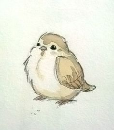 I want to pinch it's fat little cheeeeks. Love it. little bird sketch and watercolor – mike martin I want to pinch it's fat little cheeeeks. Love it. little bird sketch and watercolor – mike martin Bird Drawings, Animal Drawings, Drawing Birds, Draw A Bird, How To Draw Birds, Bird Doodle, Sweet Drawings, Watercolor Bird, Watercolor Paintings