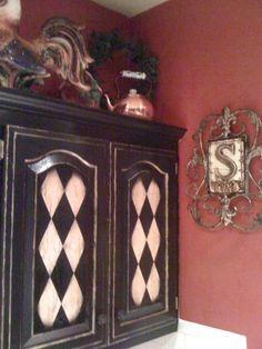 Love this cabinet! - #Tuscan #Home #Design - Find More Decor Ideas at:  http://www.IrvineHomeBlog.com/HomeDecor/  ༺༺  ℭƘ ༻༻  and Pinterest Boards   - Christina Khandan - Irvine California