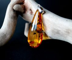 Massive amber pendant, amber jewelry, natural Baltic amber, cognac pendant, amber jewellery, royal amber pendant, drop shape amber pendant by AmberDesign8 on Etsy