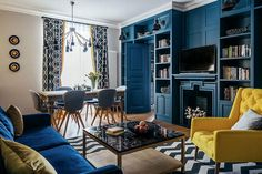 〚 Adding a color to your home: bold and colorful apartment in Moscow 〛 ◾ Photos ◾Ideas◾ Design World Of Interiors, Interiors Online, Colorful Apartment, Sala Grande, Colourful Living Room, Luxury Decor, Interior Design Studio, Best Interior, Beautiful Interiors
