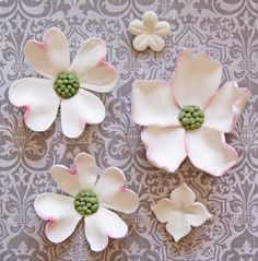 Another pinner says: Sugar Paste Flowers ... First attempt