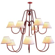 Twelve-Armed Jean Royere 'Bouquet' Chandelier, France, circa 1950 | From a unique collection of antique and modern chandeliers and pendants  at http://www.1stdibs.com/furniture/lighting/chandeliers-pendant-lights/
