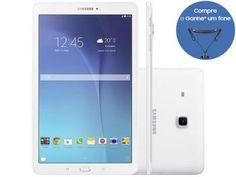 "Tablet Samsung Galaxy Tab E 8GB 9,6"" Wi-Fi - Android 4.4 Proc. Quad Core Câm. 5MP + Frontal"