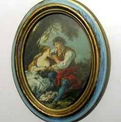 Florentin Oval Framed Art Young Lovers Framed by flabbyrabbit