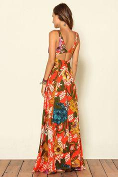 Farm - vestido longo poliana max