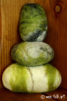 Moss Covered Felted Stones Tutorial | Wee Folk Art