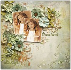"Hi there friends, thanks for stopping by. Today I have a layout to share with you that I created using our NEW ""Tattered Garden"" paper collection. Baby Scrapbook, Scrapbook Paper, Scrapbook Page Layouts, Scrapbooking Ideas, Book Layouts, White Acrylic Paint, All Paper, Layout Inspiration, Crafts To Sell"