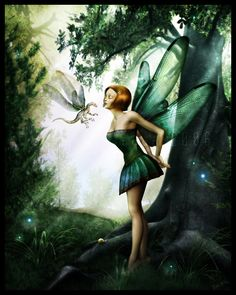 Faerie and dragon.