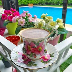 Tea And Books, Good Morning Coffee, Tropical, Turkish Coffee, I Love Coffee, Coffee Cafe, Cup And Saucer, Tea Cups, Brunch