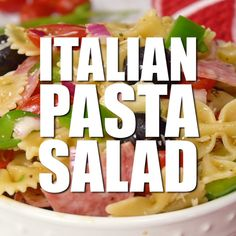 The Rise Of Private Label Brands In The Retail Meals Current Market Italian Pasta Salad - Packed Full Of Deliciousness, This Pasta Salad Will Be A Hit At Your Summer Gatherings Pasta Salat, Pasta Salad Italian, Ceasar Pasta Salad, Caesar Salad, Cooking Recipes, Healthy Recipes, Cooking Rice, Pasta Salad Recipes, Summer Salads
