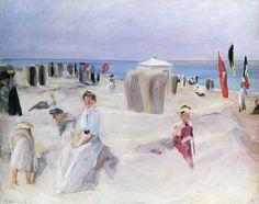 Liebermann, Max: Am Strand von Nordwijk, 1908.