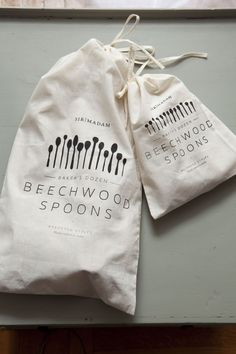 Sir Madam Love wooden spoons packaging| Remodelista - cool line of kitchen items